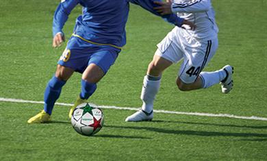 Césped sintético para campos de fútbol