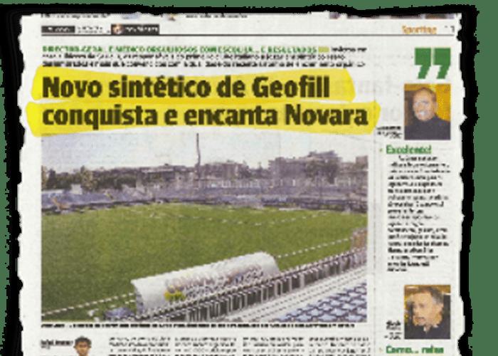 """""""El nuevo sintético con geofil conquista y encanta novara"""" – O JOGO – 10/11/2010"""